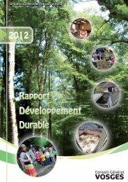 Développement durable 2012 - Vosges