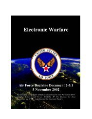 Air Force Doctrine Document on Electronic Warfare - Physics 911
