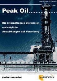 Peak Oil Vorarlberg Studie