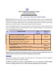 (A Govt. of India Enterprise) Plant Plaza Road, Ranchi-834004 Ref