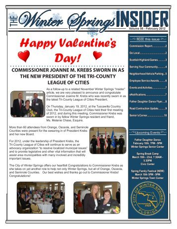 Monthly Newsletter - February 2012 - City of Winter Springs