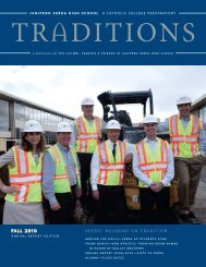 fall 2010 inside: building on tradition - Junipero Serra High School