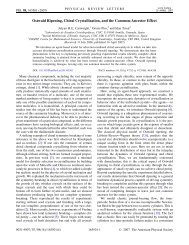 Ostwald Ripening, Chiral Crystallization, and the Common-Ancestor ...