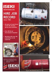HIRE JOB RECORD - Iseki Microtunnelling