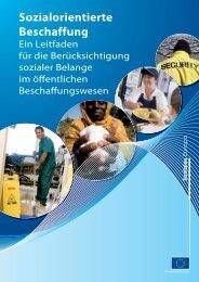 Sozialorientierte Beschaffung: Ein Leitfaden für die ... - Europa