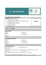 XL – Anmeldebogen - ADRA Österreich