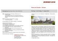 Sonntag, 12. bis Freitag, 17. August 2012 Reise nach Dresden ...