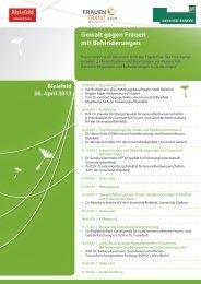 Gewalt gegen Frauen mit Behinderungen - Universität Bielefeld