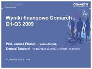 Q1-Q3 2009.pdf - Comarch
