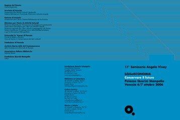 17° Seminario Angela Vinay bibliotECONOMIA Conservare il futuro ...
