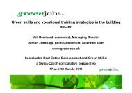 Green skills and vocational training strategies in the ... - Envi A