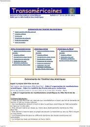 Bulletin num. 33 du 25-03-2011 - Institut des Amériques