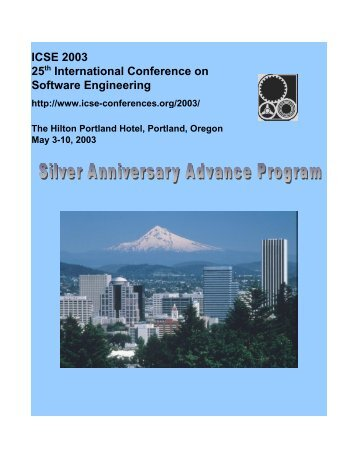ICSE 2003 25th International Conference on Software Engineering