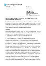 Havsplaneringsutredningens betänkande ... - Havsmiljöinstitutet