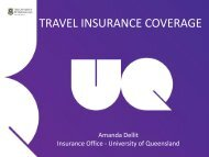 travel insurance coverage - Finance and Business Services ...