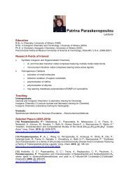Download CV in pdf - Department of Chemistry
