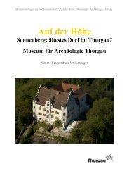 Auf der Höhe - Amt für Archäologie des Kantons Thurgau