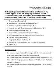 Rede des Bayerischen Staatsministers für ... - PTK Bayern