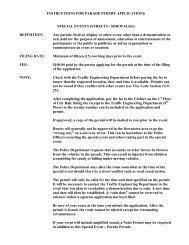 INSTRUCTIONS FOR PARADE PERMIT ... - Birmingham