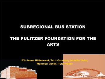 SUBREGIONAL BUS STATION THE PULITZER ... - KT Studio
