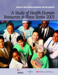 A Study of Health Human Resources in Nova Scotia 2003