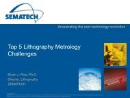 Top 5 Lithography Metrology Challenges - Sematech