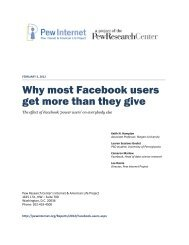 Why most Facebook users get more than they give - Pew Internet ...