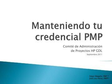 Septiembre Manteniendo tu credencial PMP - Project Management ...