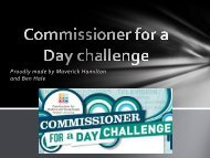 Commissioner for a day challenge - Commissioner for Children and ...