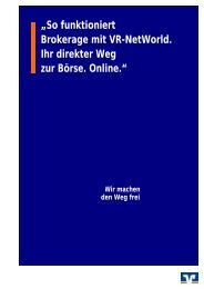 Bedienungsanleitung eBrokerage - Volksbank Ebingen eG