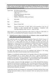 Letter from: Ms Fabrizia Lapecorella Director-General for Finance ...