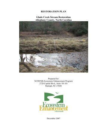 RESTORATION PLAN Glade Creek Stream Restoration Alleghany ...