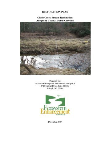 RESTORATION PLAN Glade Creek Stream Restoration Alleghany ...