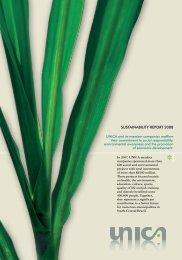 Summary of 2008 Sustainability Report - SugarCane
