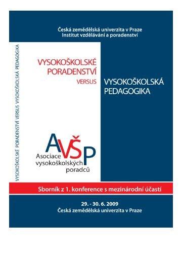 Sborník z konference - Asociace vysokoškolských poradců