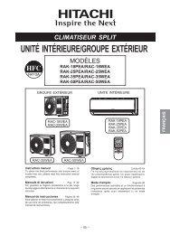 unité intérieure/groupe extérieur - Hitachi Air Conditioning Products