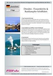Dresden - Frauenkirche & Raddampfer-Schifffahrt - Hehle Reisen