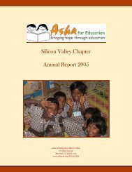 Silicon Valley Chapter Annual Report 2005 - Asha for Education