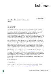 Christian Thielemann in Dresden - Studiosus
