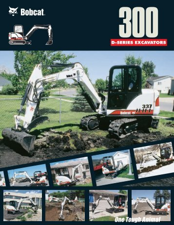 300 D-Series Excavators spec Sheet b-1735 Ver 07/01 LR ...