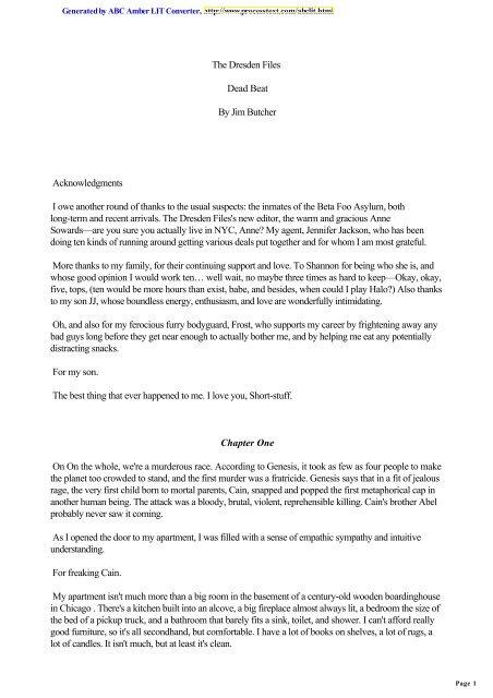 Dresden 07 - Dead Beat pdf - funkplanet