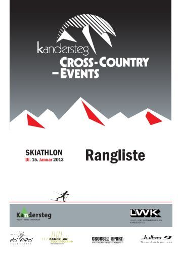 Rangliste - Cross Country Events Kandersteg
