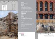 Flyer für den 14. Berliner Archäologentag - Berlin.de