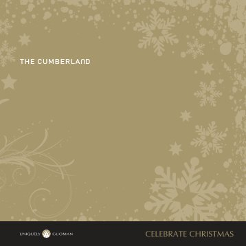 CELEBRATE CHRISTMAS - Guoman Hotels