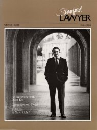 Winter 1982/1983 – Issue 29 - Stanford Lawyer - Stanford University