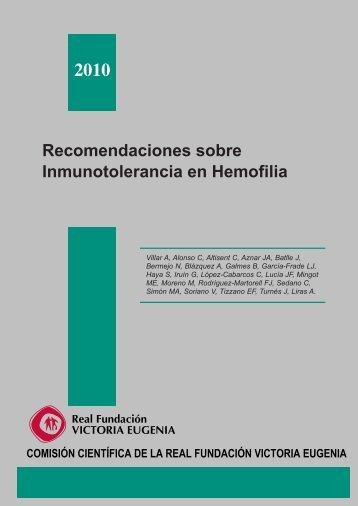 Recomendaciones sobre Inmunotolerancia en Hemofilia