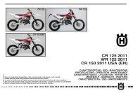 Owner's Manual 2011 CR/WR/XC 125/150 - Husqvarna