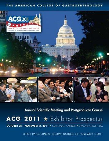 ACG 2011 H Exhibitor Prospectus - American College of ...