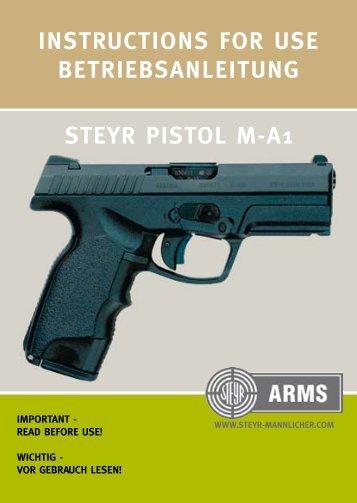 instructions for use betriebsanleitung steyr pistol ... - Steyr Mannlicher