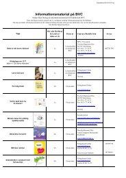 Informationsmaterial på BVC